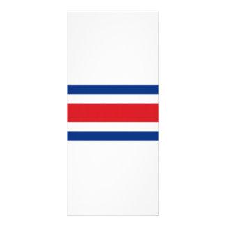 Costa Rica National Flag Rack Card Design