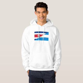 costa rica nicaragua half flag symbol hoodie