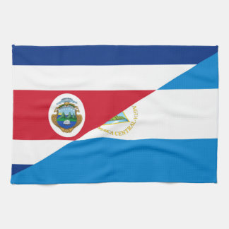 costa rica nicaragua half flag symbol tea towel