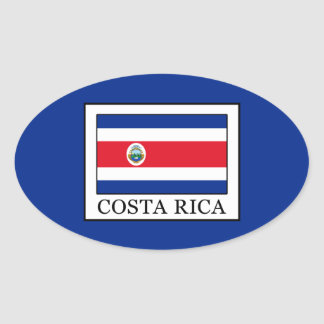Costa Rica Oval Sticker