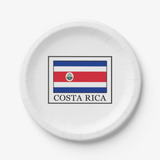 Costa Rica Paper Plate