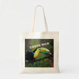 Costa Rica photo with colorful Toucan bird Tote Bag