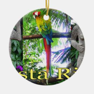 Costa Rica Pre-Columbian Parrot Round Ceramic Decoration
