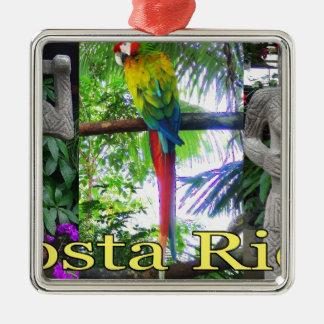 Costa Rica Pre-Columbian Parrot Silver-Colored Square Decoration