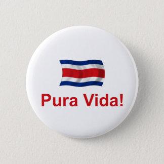 Costa Rica Pura Vida! 6 Cm Round Badge