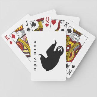 Costa Rica Pura Vida Sloth Playing Cards