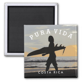 Costa Rica Pura Vida Surfer Souvenir Magnet