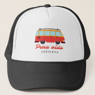 Costa Rica Pura Vida Travel Surf Van Trucker Hat