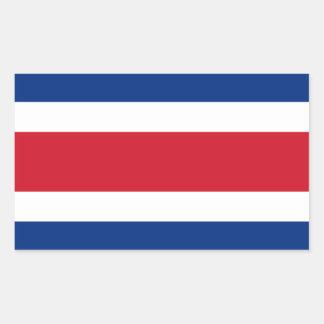 Costa Rica/Rican (Civil) Flag Rectangular Sticker