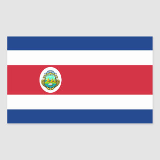 Costa Rica/Rican Flag Rectangular Sticker