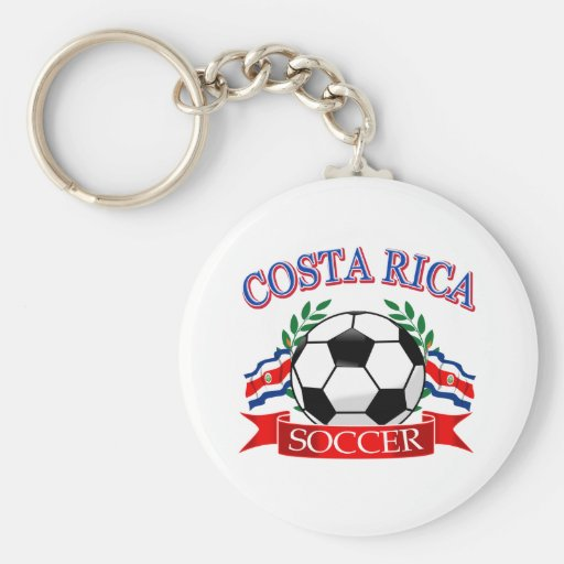 Costa Rica soccer ball designs Keychains