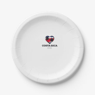 Costa Rica Soccer Shirt 2016 7 Inch Paper Plate