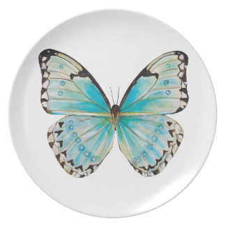 Costa Rica Solitaire Butterfly Melamine Plate