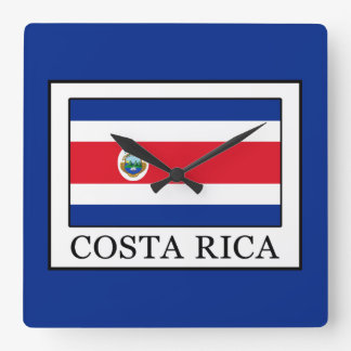 Costa Rica Square Wall Clock