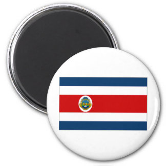 Costa Rica State Flag 6 Cm Round Magnet