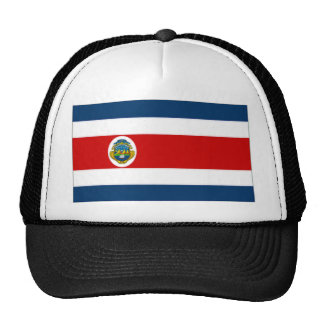Costa Rica State Flag Mesh Hats