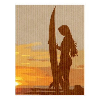 Costa Rica Surfer Girl Postcard