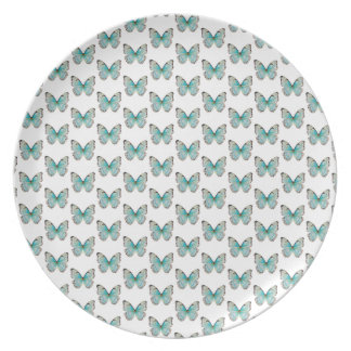 Costa Rica Tiny Pattern Butterfly Melamine Plate