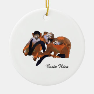Costa Rica Titi Monkey Ceramic Ornament