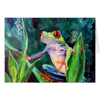 Costa Rica Tree Frog Card