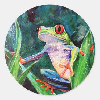 Costa Rica Tree Frog Round Sticker