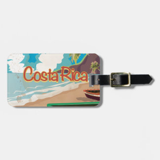 Costa Rica Vintage Travel Poster Luggage Tag