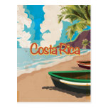 Costa Rica Vintage Travel Poster Postcard