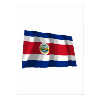 Costa Rica Waving Flag Post Cards