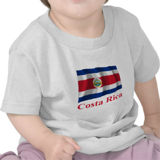 Costa Rica Waving Flag with Name Tee Shirts