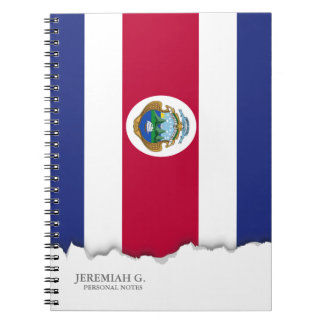 Costa Rican Flag Note Books