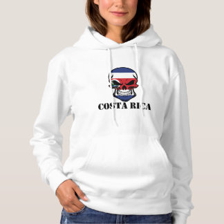 Costa Rican Flag Skull Costa Rica Hoodie