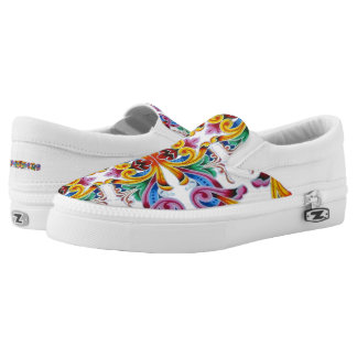Costa Rican Folklore Art Slip-On Shoes
