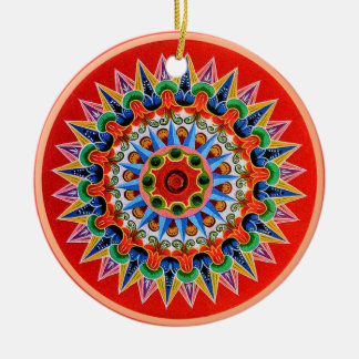 Costa Rican Oxcartwheel Ceramic Ornament