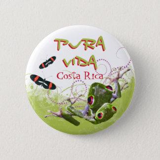 Costa Rican Pura Vida Tree Frog Button