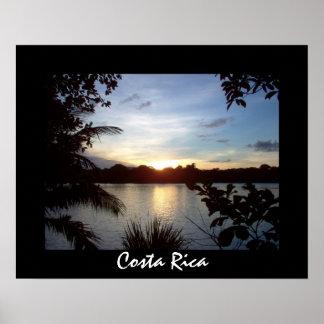 Costa Rican Sunset - Tortuguero Evening Poster