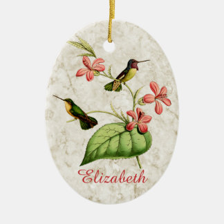 Costa's Hummingbird Ceramic Oval Decoration