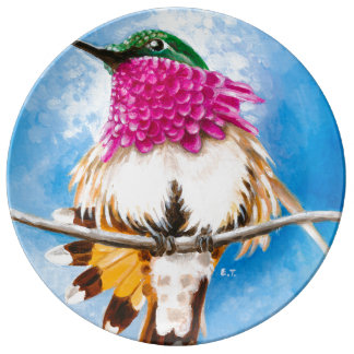 Costa's Hummingbird Plate