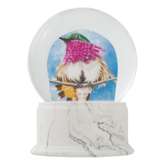 Costa's Hummingbird Snow Globe