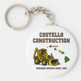 Costello Construction Basic Round Button Key Ring