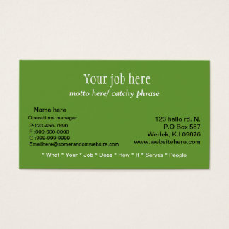 costomizable business card