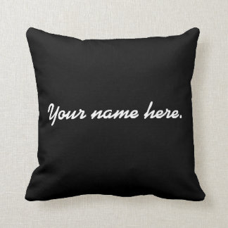 Costomized name pillow. cushion