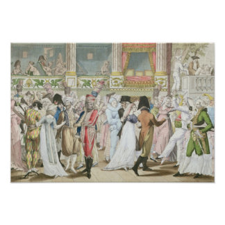 Costume Ball at the Opera, after 1800 Poster