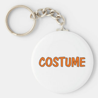 Costume Basic Round Button Key Ring