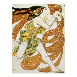 Costume design for a bacchante in 'Narcisse' Postcard
