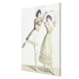 Costume design for a ballet stretched canvas prints
