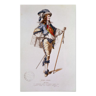 Costume design for 'Don Juan' by Moliere Poster