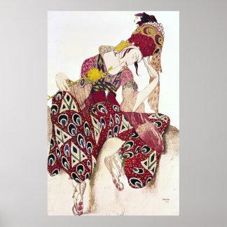 Costume design for Nijinsky at ballet 'La Poster