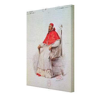 Costume design for the Pope Clement VII Canvas Prints