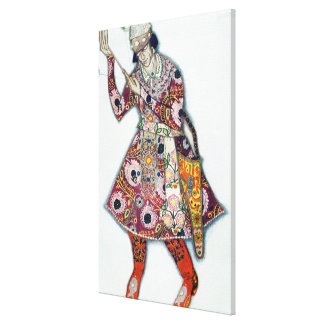 Costume design for The Tsarevitch, from The Firebi Gallery Wrapped Canvas