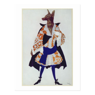 Costume design for The Wolf, from  Sleeping Beauty Postcard